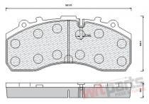 Brake pad set 10-01-01-0008