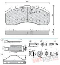 Brake pad set 10-01-01-0539